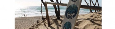 海と木とボードスティックス。