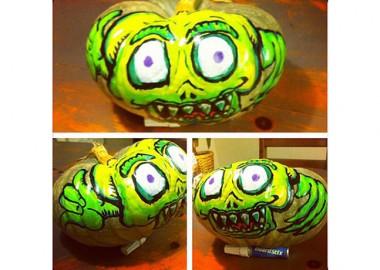 かぼちゃにアート。