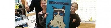 猫のイラスト。