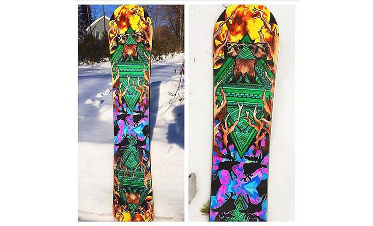 スノーボードにオリジナルデザインを。