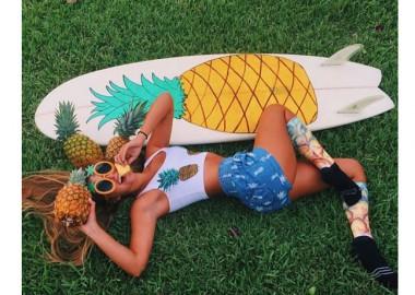 パイナップルに囲まれて!