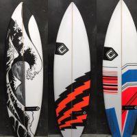 波がテーマの3つのボード。