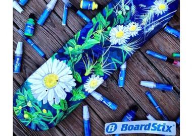 ボードに咲くヒナギク。