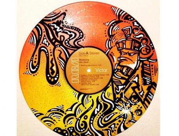 古いレコード。
