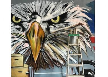 迫力の鷲。
