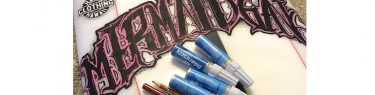 ペイントペンと鉛筆。