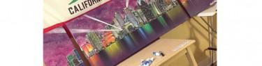 ボードスティックスで描いた夜景。