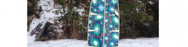雪の日にもボードスティックス。