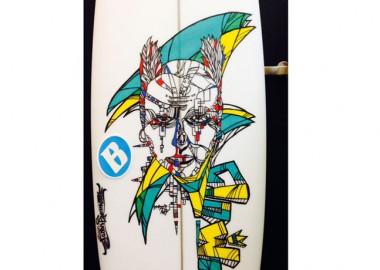 「clown」。