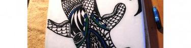 Tribal Hammer Head art。