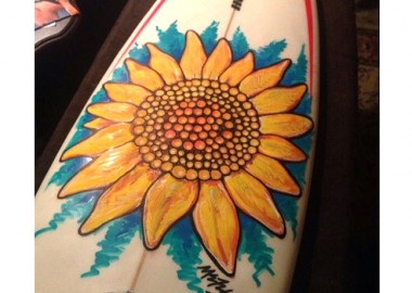 ボードに咲く花。