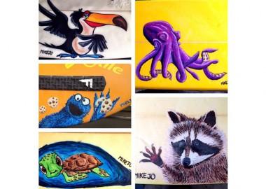 動物たちのイラスト。