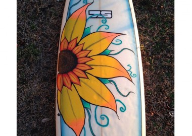 ボードに花を咲かせましょう。