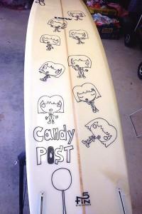 ペイントペン ボードスティックス 山本拓也作品「candyその2」