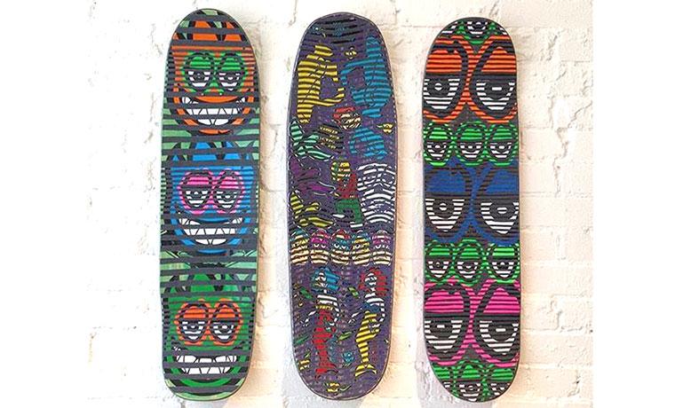 3枚のスケートボード。