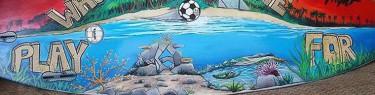 海とサッカー。