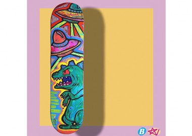 宙に浮くスケートボード?