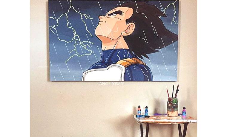 壁に飾られた絵。