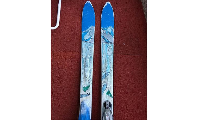 スキーにもペイント!