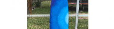 鮮やかなブルー、のビフォー。