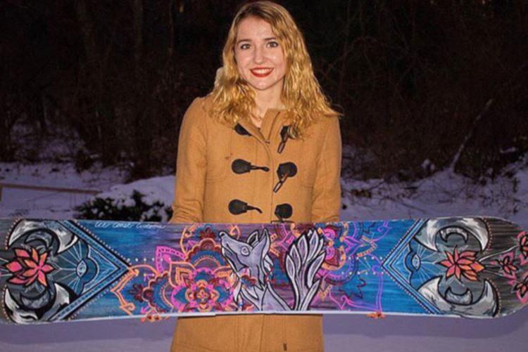 スノーボードへのペイント
